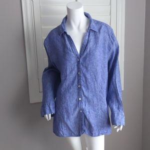 Foxcroft Taylor Chambray Linen Shirt
